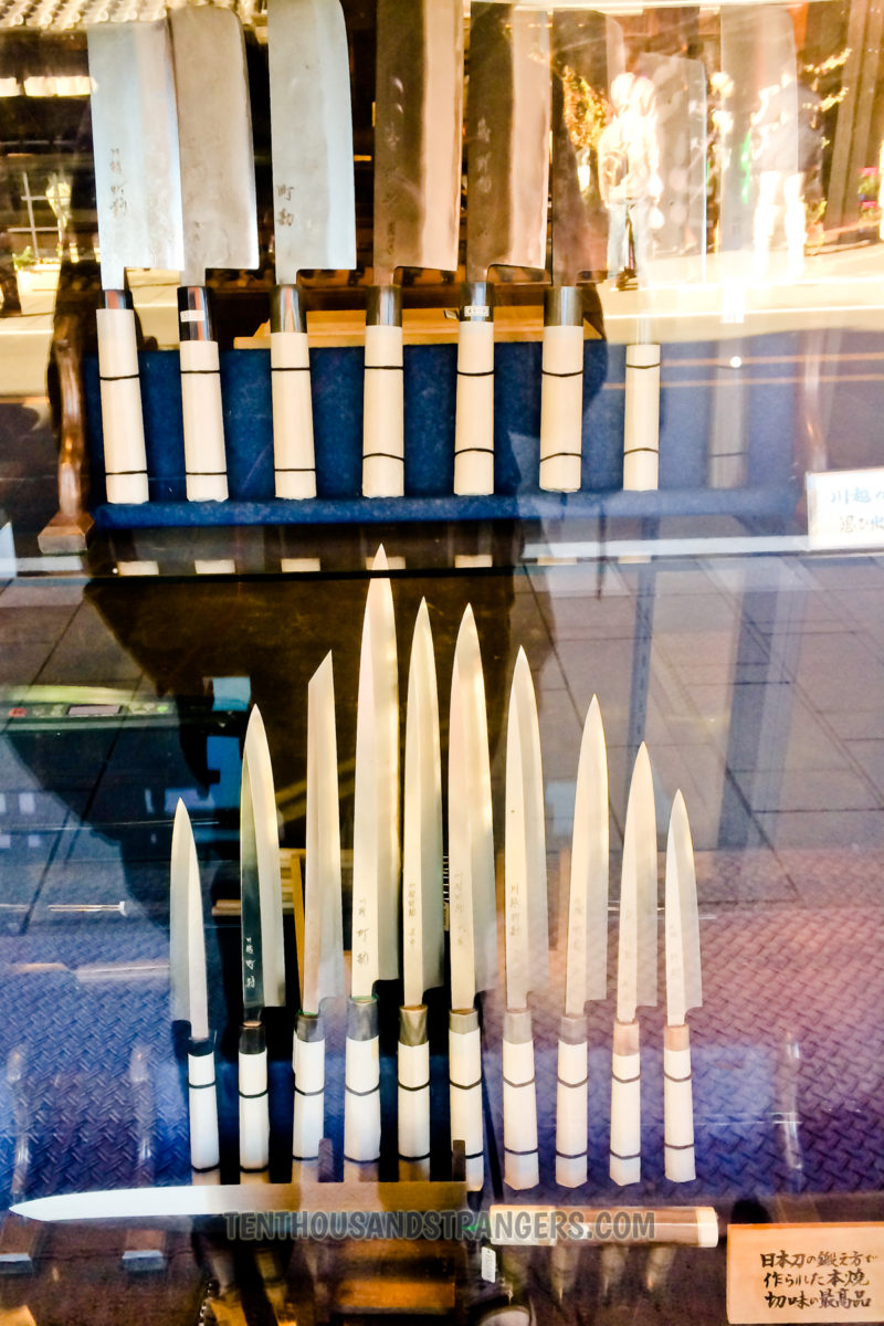 Japanese Knife Set, Little Edo, Kawagoe