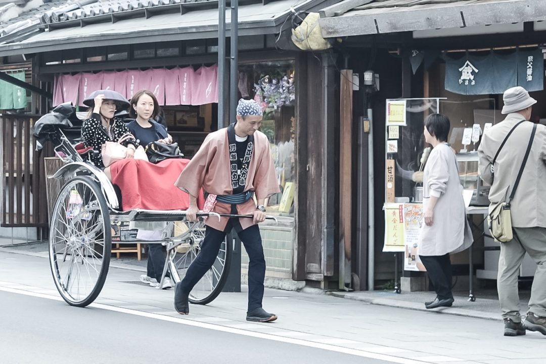 Jinrikisha (Pulled Rickshaw), Little Edo