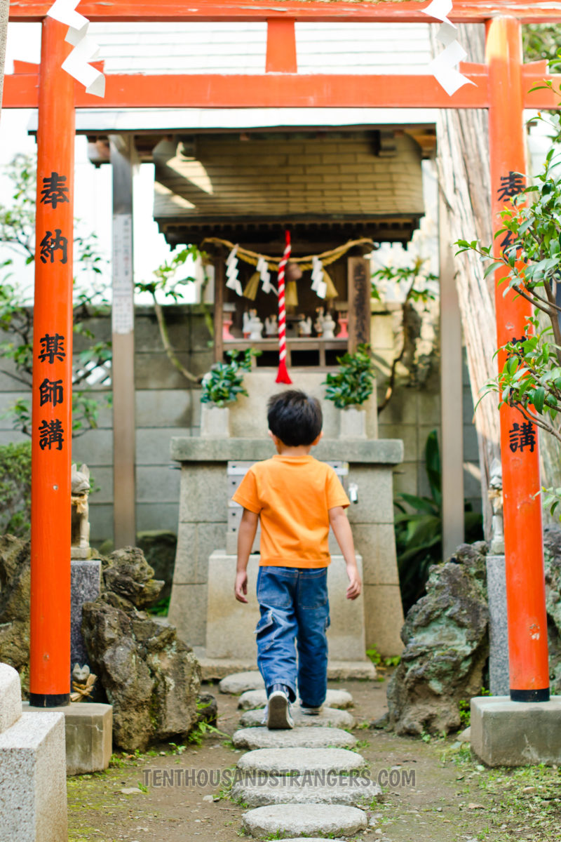 Orange Torii Gate, Yakushi Shrine, Little Edo, Kawagoe