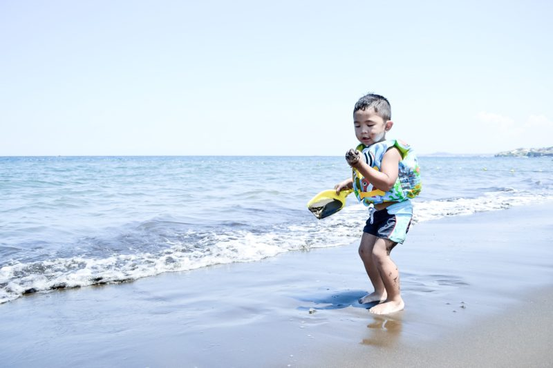 Daniel playing on the sands