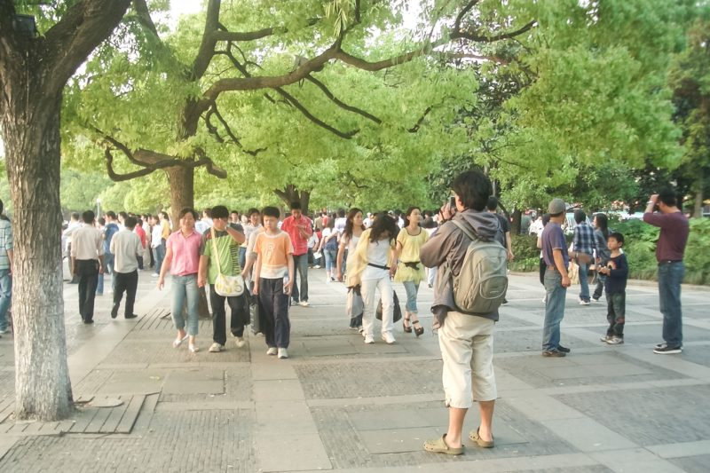 Crowd at Hubin Rd., Hangzhou West Lake