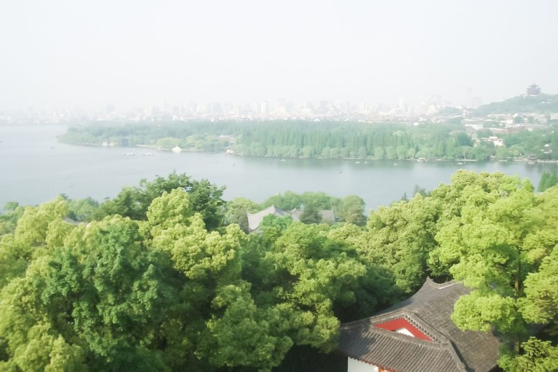 View from the top of Leifeng Tower, Hangzhou West Lake