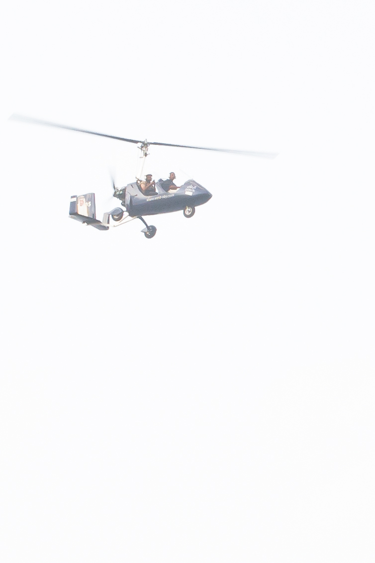 Helicopter hovering around Jddah Corniche by Noel Cabacungan