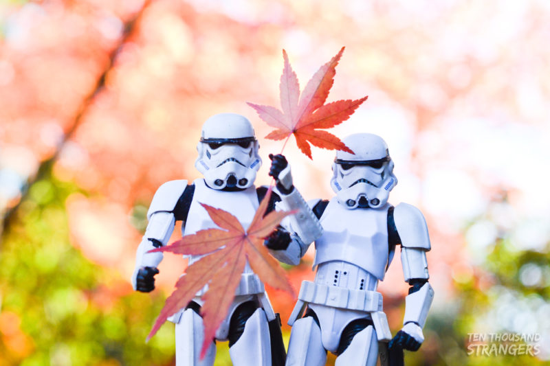 Stormtroopers and fall colors at Kitain Temple
