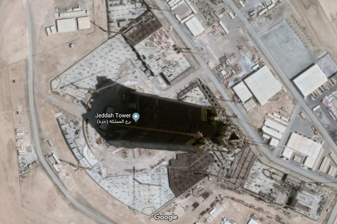 Jeddah Tower Construction as of October 2018
