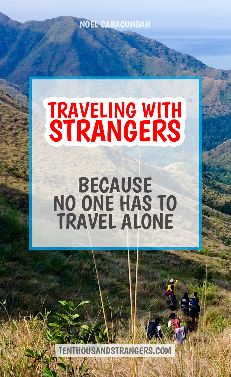 Traveling with Strangers - Because no one has to travel alone.