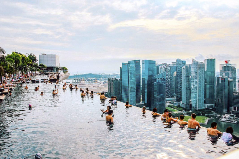Rooftop Bars at Marina Bay Sands Hotel - Free Singapore Attractions